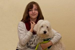 Kyra und ihr Hund Emma